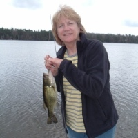 Jan Fishing on the Dock May 201