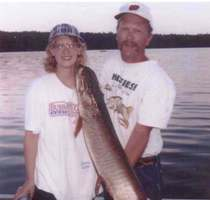 Dennis & Amy with 44 inch Muskie 2010